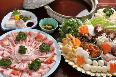 里山の猪鍋膳